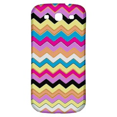 Chevrons Pattern Art Background Samsung Galaxy S3 S III Classic Hardshell Back Case