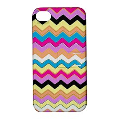 Chevrons Pattern Art Background Apple iPhone 4/4S Hardshell Case with Stand
