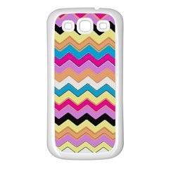 Chevrons Pattern Art Background Samsung Galaxy S3 Back Case (White)