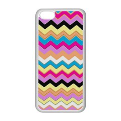 Chevrons Pattern Art Background Apple iPhone 5C Seamless Case (White)