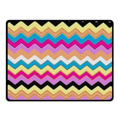 Chevrons Pattern Art Background Double Sided Fleece Blanket (Small)