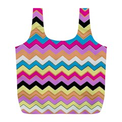 Chevrons Pattern Art Background Full Print Recycle Bags (L)