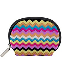 Chevrons Pattern Art Background Accessory Pouches (Small)