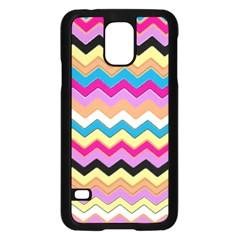 Chevrons Pattern Art Background Samsung Galaxy S5 Case (black)