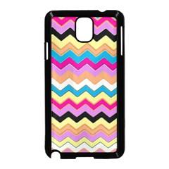 Chevrons Pattern Art Background Samsung Galaxy Note 3 Neo Hardshell Case (Black)
