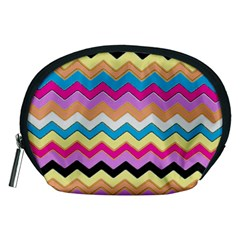 Chevrons Pattern Art Background Accessory Pouches (Medium)