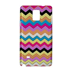Chevrons Pattern Art Background Samsung Galaxy Note 4 Hardshell Case
