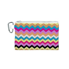 Chevrons Pattern Art Background Canvas Cosmetic Bag (S)