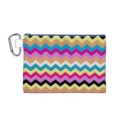 Chevrons Pattern Art Background Canvas Cosmetic Bag (M)
