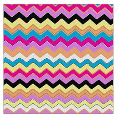 Chevrons Pattern Art Background Large Satin Scarf (square)