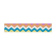 Chevrons Pattern Art Background Flano Scarf (Mini)
