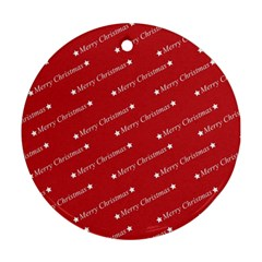 Christmas Paper Background Greeting Ornament (Round)