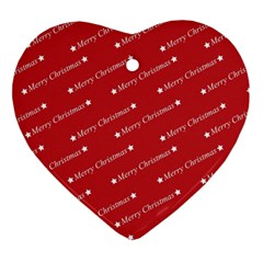 Christmas Paper Background Greeting Ornament (Heart)