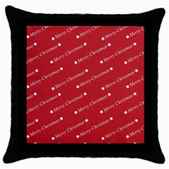 Christmas Paper Background Greeting Throw Pillow Case (Black)