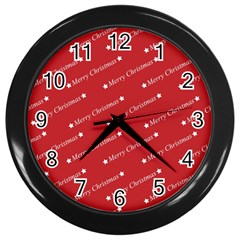 Christmas Paper Background Greeting Wall Clocks (Black)