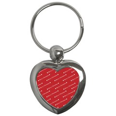 Christmas Paper Background Greeting Key Chains (Heart)