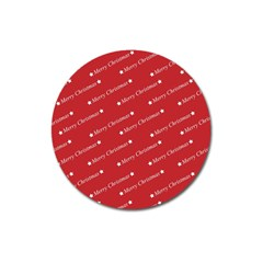 Christmas Paper Background Greeting Magnet 3  (Round)