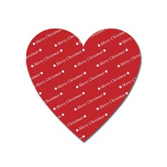 Christmas Paper Background Greeting Heart Magnet