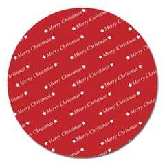 Christmas Paper Background Greeting Magnet 5  (Round)
