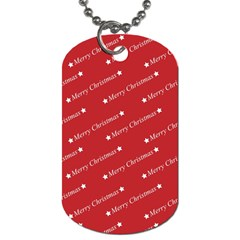 Christmas Paper Background Greeting Dog Tag (one Side)