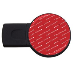 Christmas Paper Background Greeting USB Flash Drive Round (1 GB)