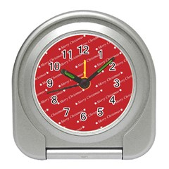 Christmas Paper Background Greeting Travel Alarm Clocks