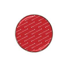 Christmas Paper Background Greeting Hat Clip Ball Marker (4 pack)