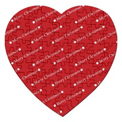Christmas Paper Background Greeting Jigsaw Puzzle (Heart)