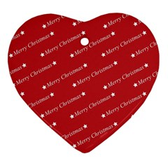 Christmas Paper Background Greeting Heart Ornament (Two Sides)