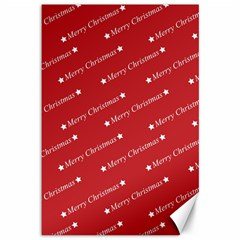 Christmas Paper Background Greeting Canvas 12  x 18