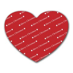 Christmas Paper Background Greeting Heart Mousepads