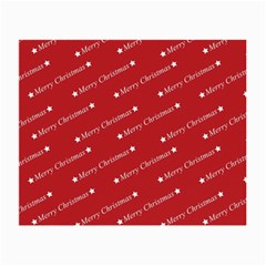 Christmas Paper Background Greeting Small Glasses Cloth (2-Side)