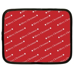 Christmas Paper Background Greeting Netbook Case (Large)