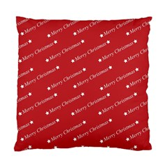 Christmas Paper Background Greeting Standard Cushion Case (Two Sides)