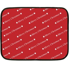Christmas Paper Background Greeting Double Sided Fleece Blanket (Mini)