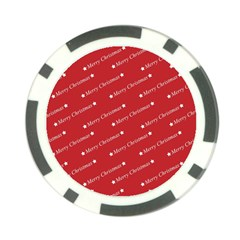 Christmas Paper Background Greeting Poker Chip Card Guard (10 Pack)