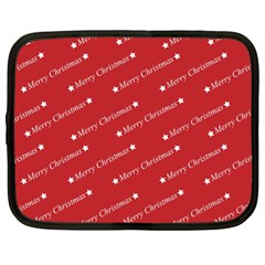 Christmas Paper Background Greeting Netbook Case (XL)