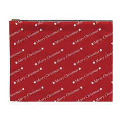 Christmas Paper Background Greeting Cosmetic Bag (XL)