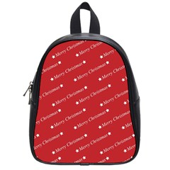 Christmas Paper Background Greeting School Bags (Small)