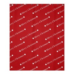 Christmas Paper Background Greeting Shower Curtain 60  x 72  (Medium)