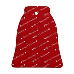 Christmas Paper Background Greeting Bell Ornament (Two Sides)