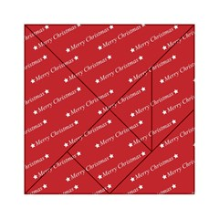 Christmas Paper Background Greeting Acrylic Tangram Puzzle (6  x 6 )