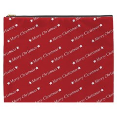 Christmas Paper Background Greeting Cosmetic Bag (xxxl)