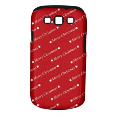 Christmas Paper Background Greeting Samsung Galaxy S III Classic Hardshell Case (PC+Silicone)