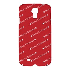 Christmas Paper Background Greeting Samsung Galaxy S4 I9500/I9505 Hardshell Case