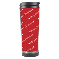 Christmas Paper Background Greeting Travel Tumbler