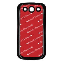 Christmas Paper Background Greeting Samsung Galaxy S3 Back Case (Black)