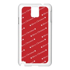 Christmas Paper Background Greeting Samsung Galaxy Note 3 N9005 Case (White)