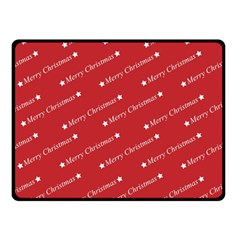 Christmas Paper Background Greeting Double Sided Fleece Blanket (Small)