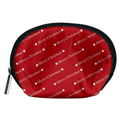 Christmas Paper Background Greeting Accessory Pouches (Medium)